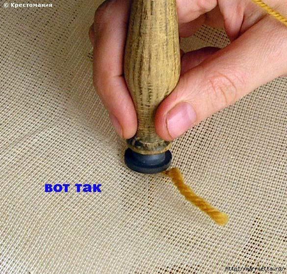 Вышивка ковровой техникой с помощью специальной иглы (12) (585x558, 253Kb)