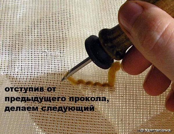 Вышивка ковровой техникой с помощью специальной иглы (17) (600x463, 230Kb)