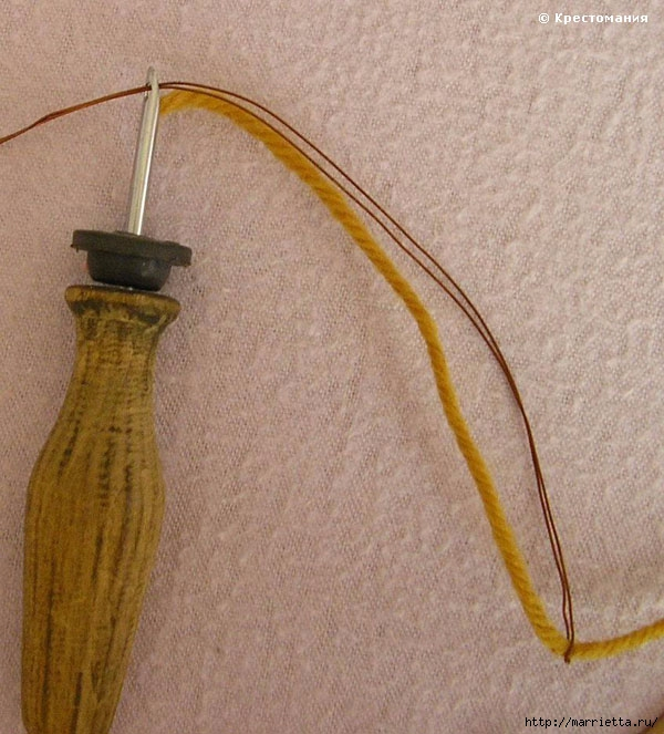 Вышивка ковровой техникой с помощью специальной иглы (6) (600x663, 256Kb)