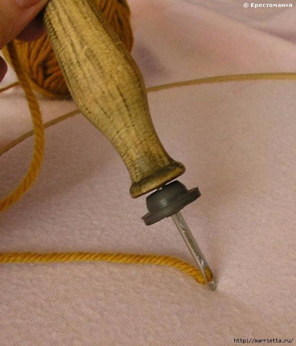 Вышивка ковровой техникой с помощью специальной иглы (8) (599x700, 236Kb)