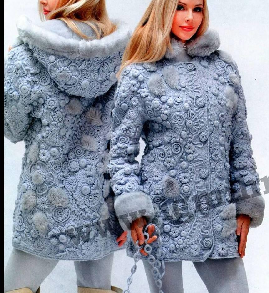 Потрясающая куртка в технике фриформ от Ольги Масагутовой. МК