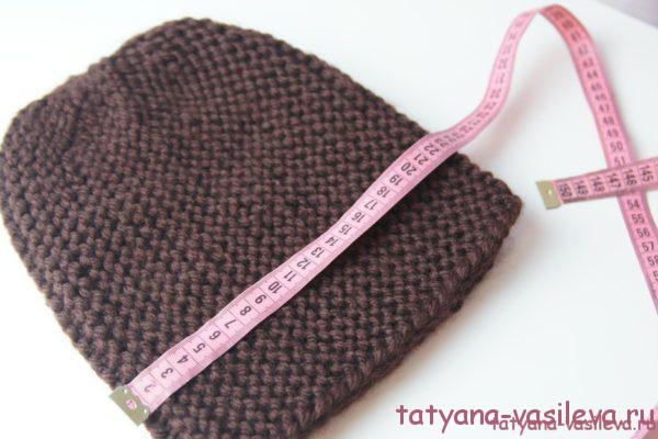 шапка спицами с описанием и фото вязания