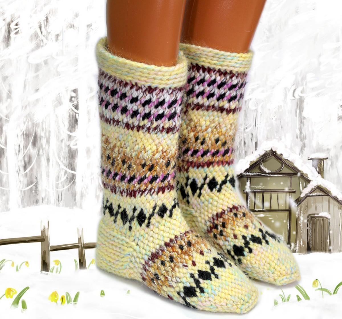 вязание джурабов крючком утепляем ноги модными вещами
