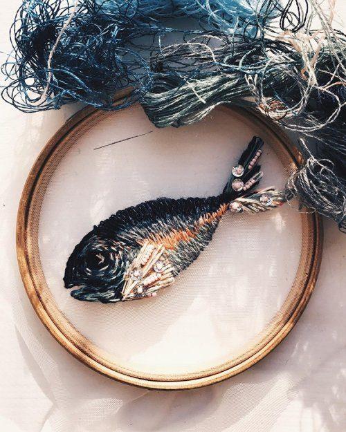 Невероятная «парящая» вышивка от Екатерины Марченко
