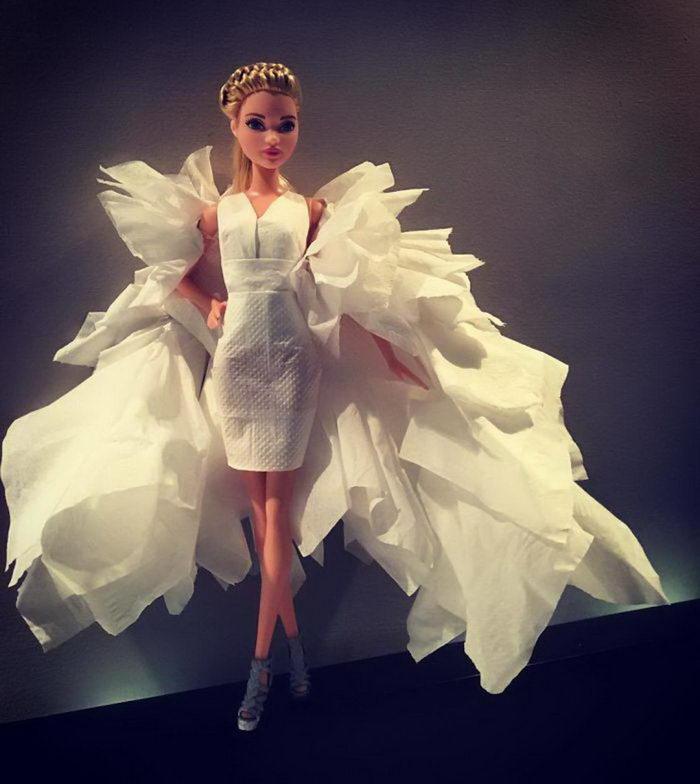 Платья для Барби из туалетной бумаги: работы Jian Yang