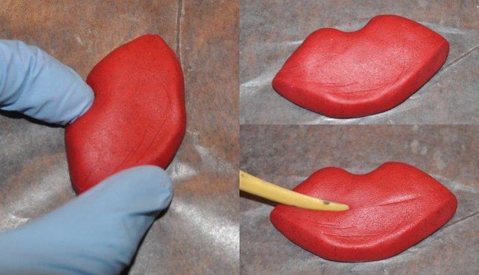 Сделайте форму для губ