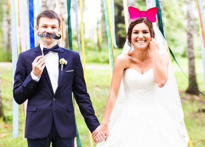 Свадебный фотореквизит на палочках