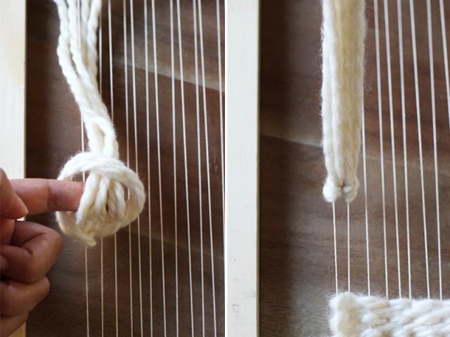 Настенное украшение наткацком станке своими руками