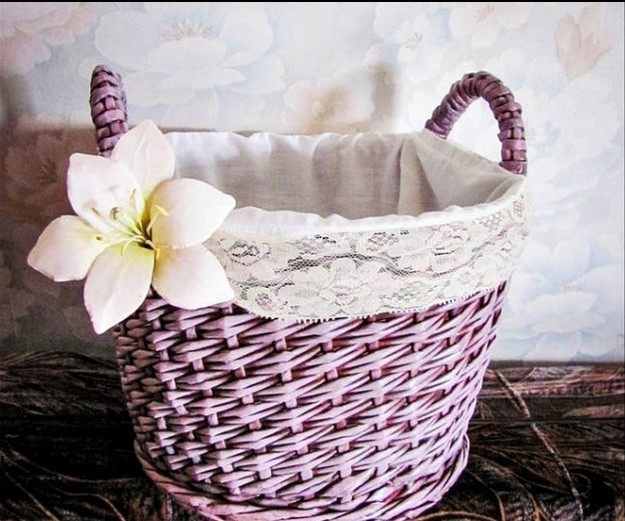 pletenye-korzinki6 Плетеные корзинки из различных материалов своими руками