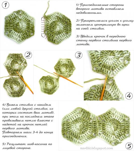 Сапожки из шестиугольников крючком: мастер-класс со ...