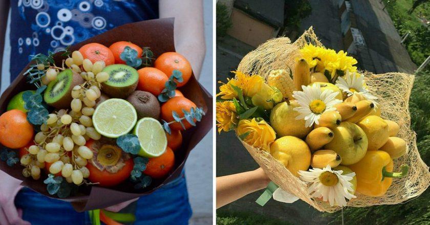 Букет из фруктов: разновидности