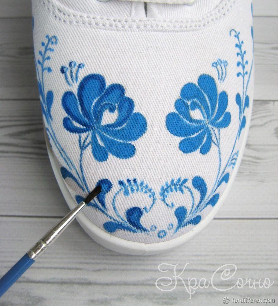 краски по ткани, цветы 2018