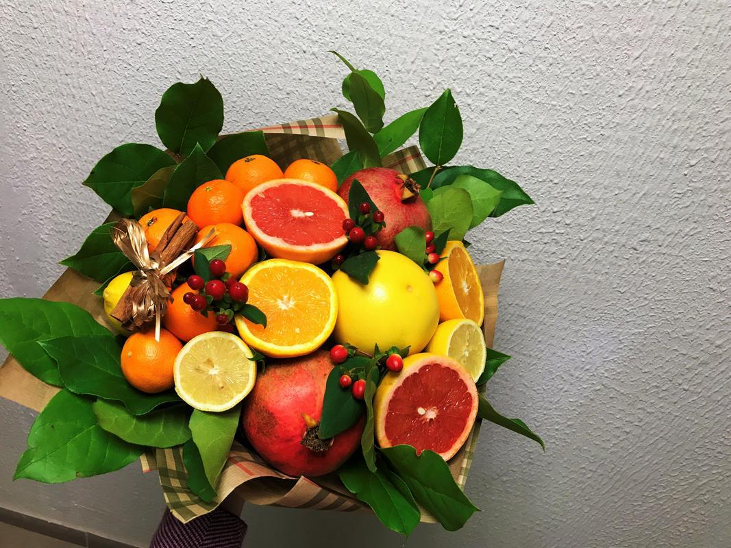 Пошаговый мк букет из фруктов
