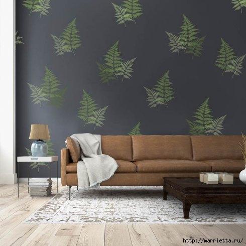 Растительный орнамент на стене. Роспись (11) (490x490, 106Kb)