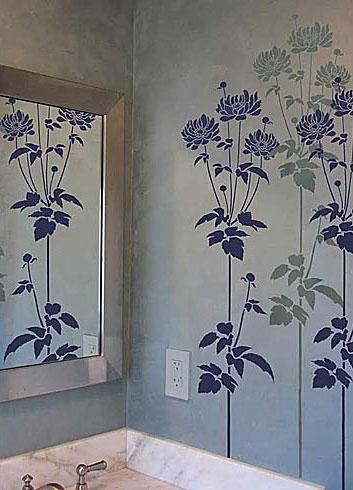 Растительный орнамент на стене. Роспись (19) (353x490, 106Kb)