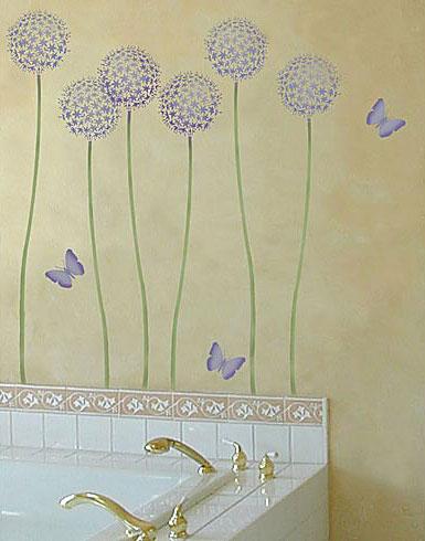 Растительный орнамент на стене. Роспись (30) (385x490, 91Kb)