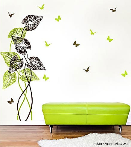 Растительный орнамент на стене. Роспись (31) (438x490, 99Kb)