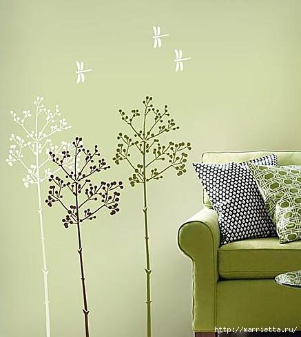 Растительный орнамент на стене. Роспись (38) (437x490, 99Kb)