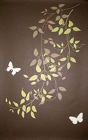 Растительный орнамент на стене. Роспись (44) (309x490, 87Kb)