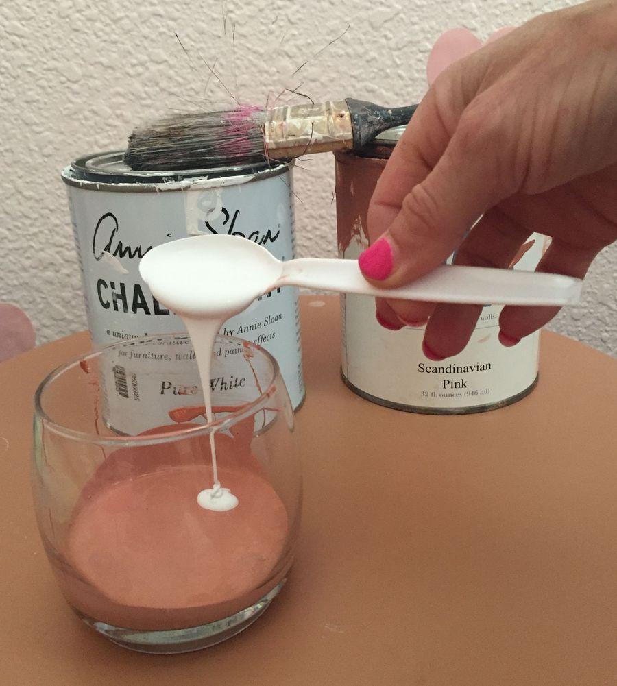 смешивание красок для покраски мебели в технике омбре