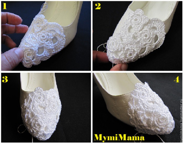 вязание на заказ, женские туфли
