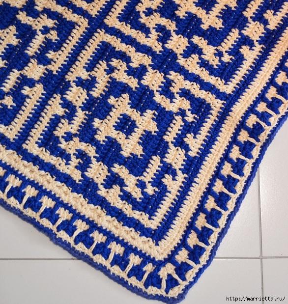 Стильный коврик крючком в португальском стиле (2) (586x619, 408Kb)