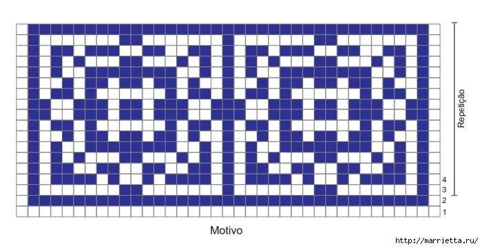 Стильный коврик крючком в португальском стиле (3) (700x361, 154Kb)
