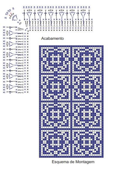 Стильный коврик крючком в португальском стиле (4) (393x578, 232Kb)