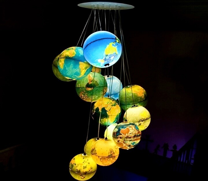 абажуры из глобусов