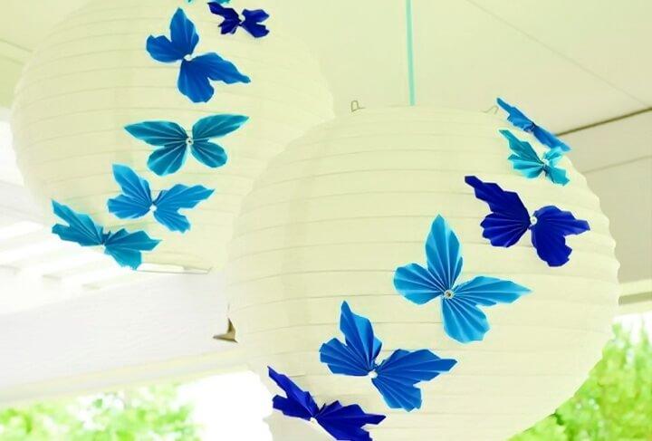 абажуры с бабочками
