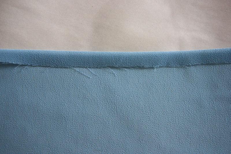Как обработать край тонкой ткани