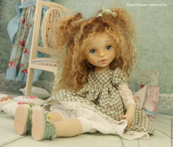 Коллекционные куклы ручной работы. Ярмарка МаÑтеров - Ñ€ÑƒÑ‡Ð½Ð°Ñ Ñ€Ð°Ð±Ð¾Ñ'а. Купить Малышка Стеша . Handmade. Куклы, инÑ'ÐµÑ€ÑŒÐµÑ€Ð½Ð°Ñ ÐºÑƒÐºÐ»Ð°, шебби