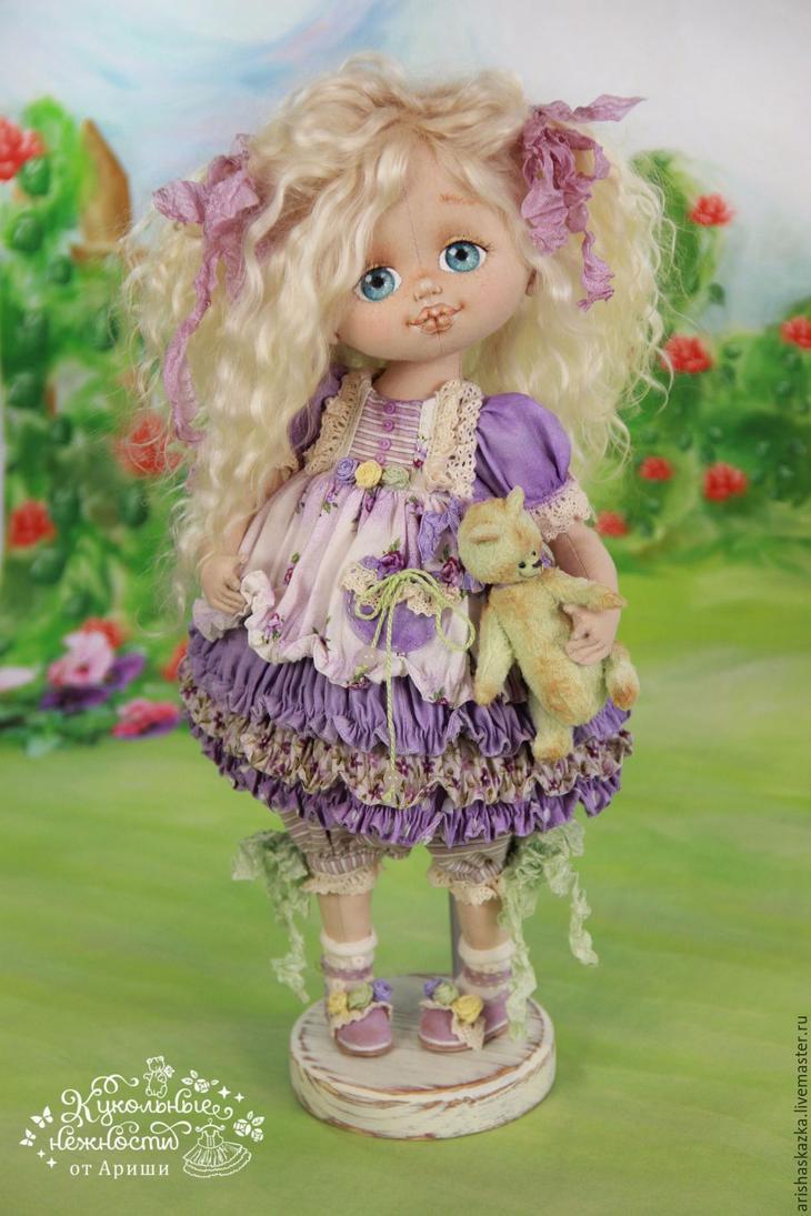 Коллекционные куклы ручной работы. Ярмарка МаÑтеров - Ñ€ÑƒÑ‡Ð½Ð°Ñ Ñ€Ð°Ð±Ð¾Ñ'а. Купить Фиалочка . Кукла авторÑÐºÐ°Ñ Ñ'екÑÑ'Ð¸Ð»ÑŒÐ½Ð°Ñ art doll. Handmade.