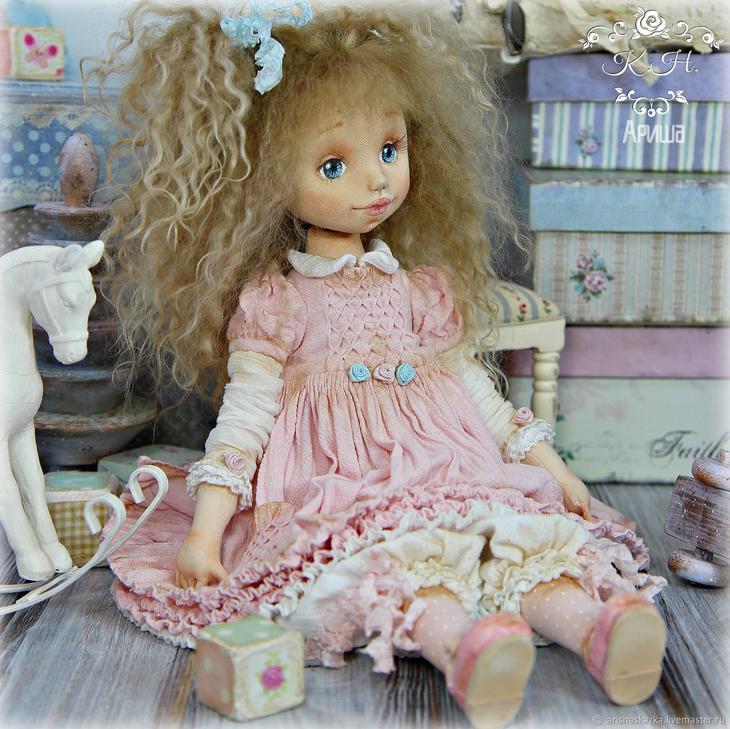 Коллекционные куклы ручной работы. Ярмарка МаÑтеров - Ñ€ÑƒÑ‡Ð½Ð°Ñ Ñ€Ð°Ð±Ð¾Ñ'а. Купить Ðнюта . Кукла текÑтильнаÑ. Handmade. Куклы, авторÑÐºÐ°Ñ ÐºÑƒÐºÐ»Ð°