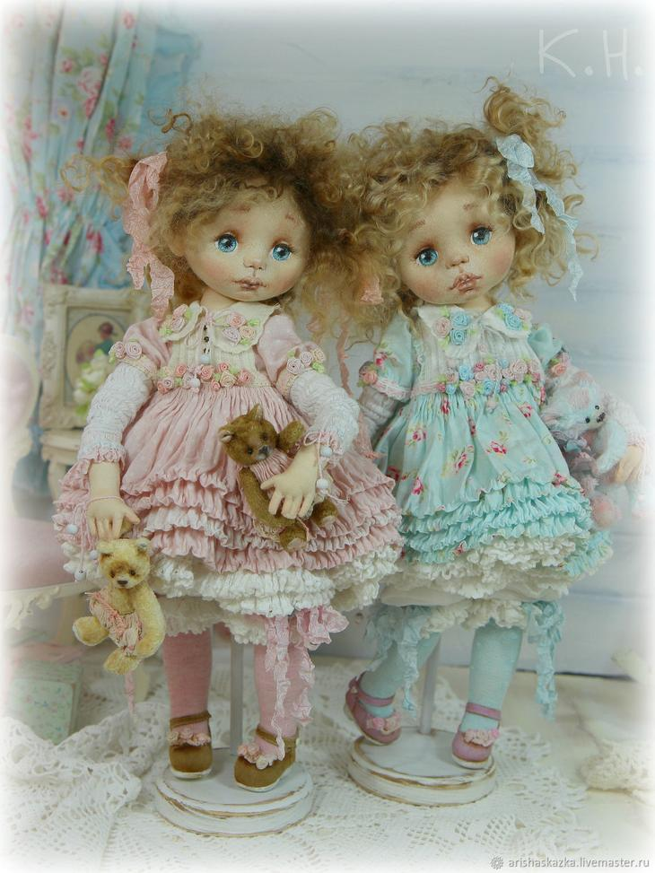 Коллекционные куклы ручной работы. Ярмарка МаÑтеров - Ñ€ÑƒÑ‡Ð½Ð°Ñ Ñ€Ð°Ð±Ð¾Ñ'а. Купить Маша и Глаша . Кукла текÑтильнаÑ. Handmade. Куклы, кукла