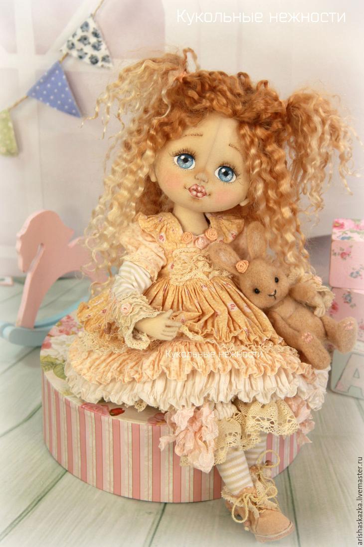 Коллекционные куклы ручной работы. Ярмарка МаÑтеров - Ñ€ÑƒÑ‡Ð½Ð°Ñ Ñ€Ð°Ð±Ð¾Ñ'а. Купить Шарлотка Ñ ÐºÑ€Ð¾Ð»Ð¸ÐºÐ¾Ð¼ . Кукла авторÑÐºÐ°Ñ Ñ'екÑÑ'Ð¸Ð»ÑŒÐ½Ð°Ñ art doll. Handmade.