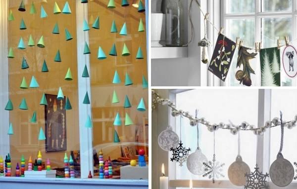 Как украсить окна к Новому году - делаем гирлянды своими руками