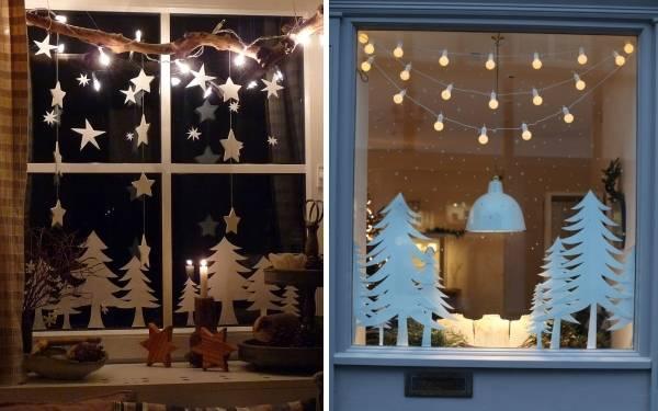 Как украсить окно своими руками - идеи для празников