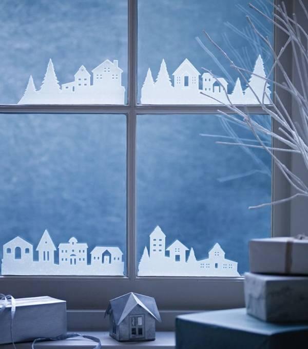Новогодние украшения для окон из бумаги своими руками