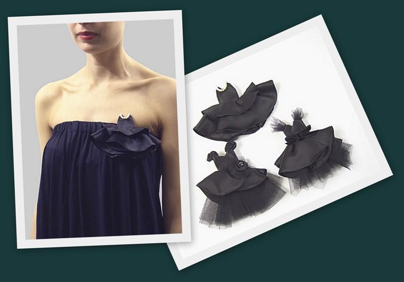 брошь платье