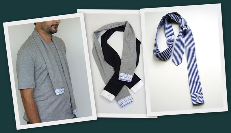 галстуки и шарфы из рукавов