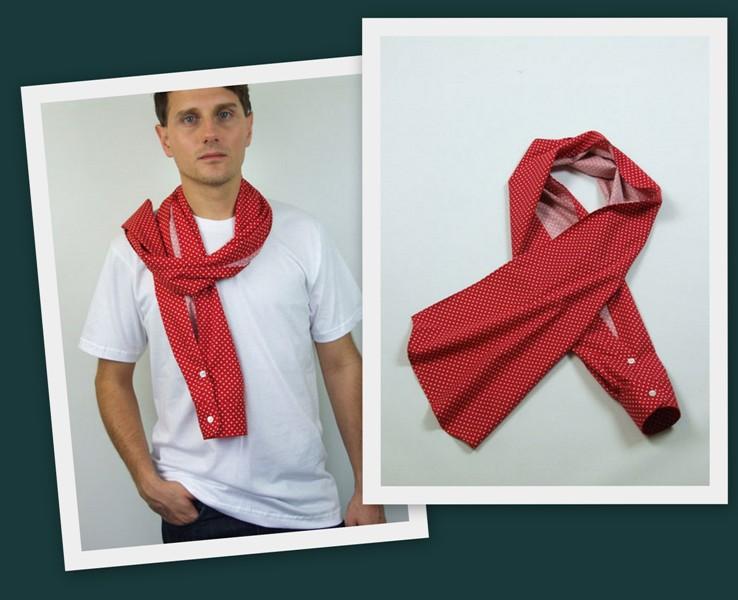шарф из рубашки