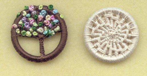 Делаем очаровательные пуговицы из колечка и остатков пряжи