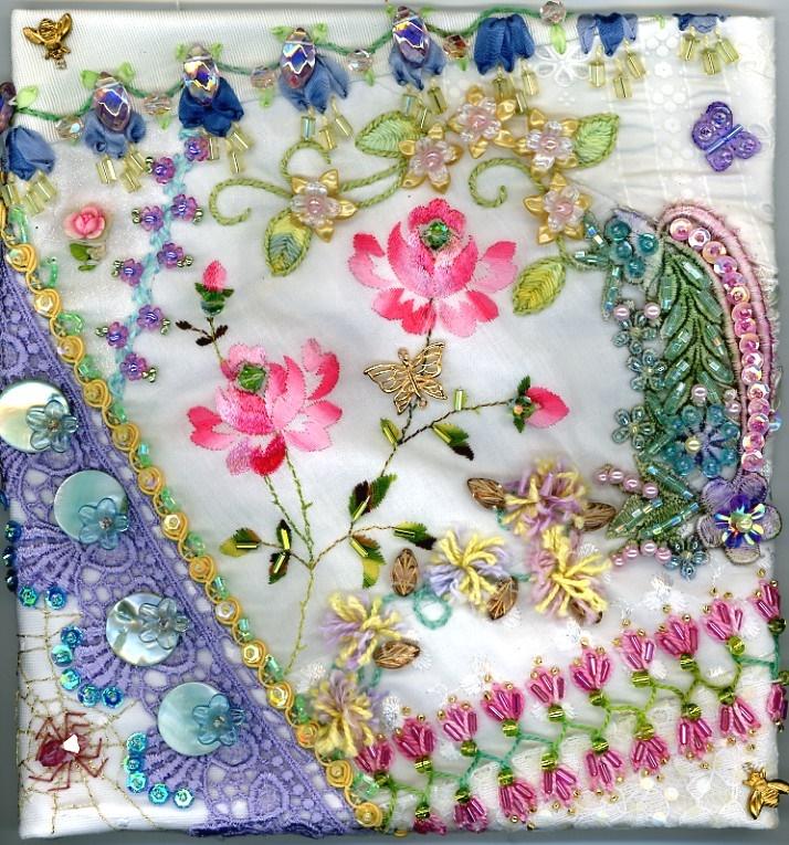 crazy quilt blocks by Pamela Kellogg