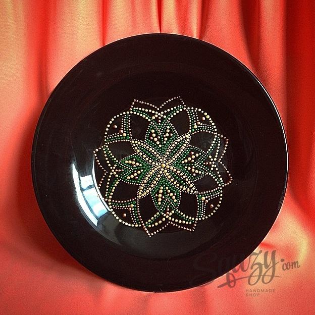 Мастер-класс по точечной росписи: Роспись декоративной тарелки.