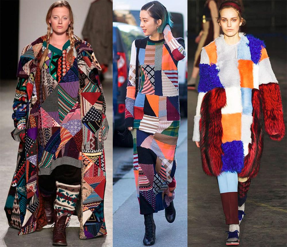 Стиль пэчворк и имитация в одежде