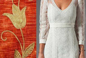Вышивка шнуром на модной одежде