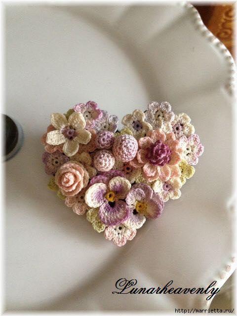 Украшение и декор предметов цветочками крючком (2) (480x640, 134Kb)