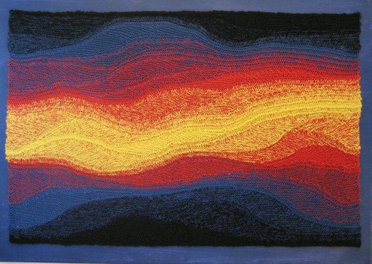 косое вязание