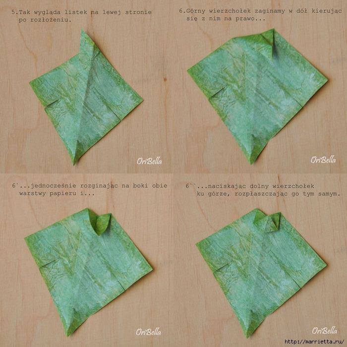 Декоративный плющ из бумаги в технике оригами. Мастер-класс (4) (700x700, 323Kb)